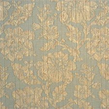 Blue/Natural Damask Drapery and Upholstery Fabric by Mulberry Home
