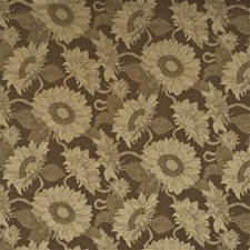 Ochre Print Drapery and Upholstery Fabric by Mulberry Home