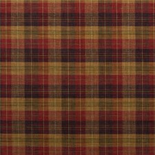 Damson/Red/Camel Check Drapery and Upholstery Fabric by Mulberry Home