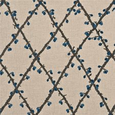 Teal Embroidery Drapery and Upholstery Fabric by Mulberry Home