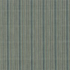 Teal/Aqua/Indigo Stripes Drapery and Upholstery Fabric by Mulberry Home