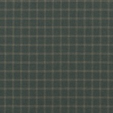 Blue/Green Check Drapery and Upholstery Fabric by Mulberry Home