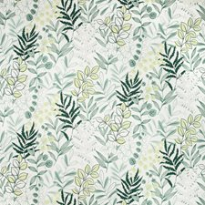 Teal Botanical Drapery and Upholstery Fabric by Kravet
