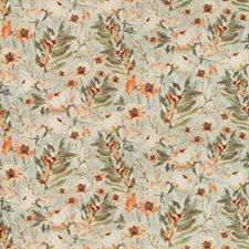 Light Grey/Orange/Red Botanical Drapery and Upholstery Fabric by Kravet