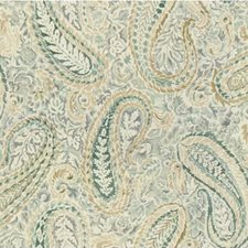 Jade Paisley Drapery and Upholstery Fabric by Kravet