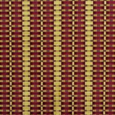 Ruby Stripes Drapery and Upholstery Fabric by Groundworks
