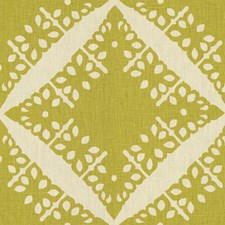 Lime Geometric Drapery and Upholstery Fabric by Groundworks