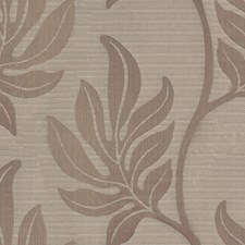 Taupe Botanical Drapery and Upholstery Fabric by Groundworks