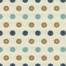 Aqua Dots Drapery and Upholstery Fabric by Groundworks