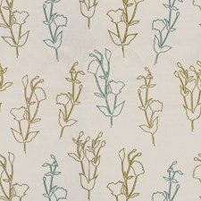 Grass/Teal Outdoor Drapery and Upholstery Fabric by Groundworks