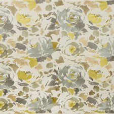 Grey/Wheat Botanical Drapery and Upholstery Fabric by Groundworks