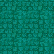 Teal Geometric Drapery and Upholstery Fabric by Groundworks