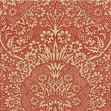 Scarlet Botanical Drapery and Upholstery Fabric by Groundworks