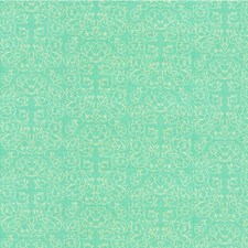 Aqua Botanical Drapery and Upholstery Fabric by Groundworks
