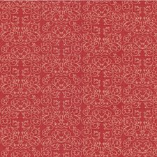 Cerise Botanical Drapery and Upholstery Fabric by Groundworks