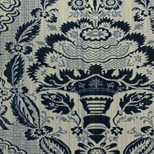 Bleu Drapery and Upholstery Fabric by Scalamandre