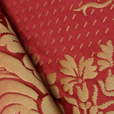 Rouge/Or Drapery and Upholstery Fabric by Scalamandre