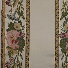 Multi On Ivory Drapery and Upholstery Fabric by Scalamandre
