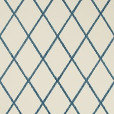 Ivory/Blue Ikat Drapery and Upholstery Fabric by Kravet