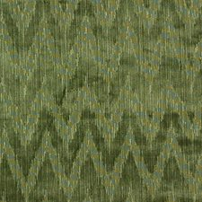 Holland Flamest-Moss Flamestitch Drapery and Upholstery Fabric by Lee Jofa