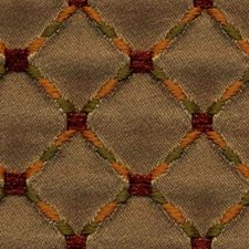Red Gold Drapery and Upholstery Fabric by RM Coco
