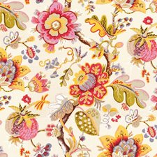 White/Pink/Multi Print Drapery and Upholstery Fabric by Kravet