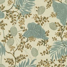 Delft Botanical Drapery and Upholstery Fabric by Kravet