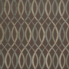 Taupe/Aqua Contemporary Drapery and Upholstery Fabric by Groundworks