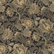 Black/Brown/Grey Botanical Drapery and Upholstery Fabric by Kravet