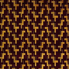 Plum/Sand Drapery and Upholstery Fabric by G P & J Baker