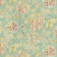 Light Blue/Pink/Green Botanical Drapery and Upholstery Fabric by Kravet
