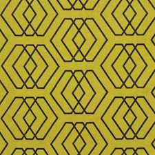 Celery Geometric Drapery and Upholstery Fabric by Groundworks