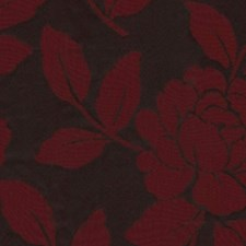 Red Black Drapery and Upholstery Fabric by RM Coco