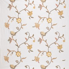 Carmel Embroidery Drapery and Upholstery Fabric by Laura Ashley