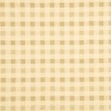 Cream Plaid Drapery and Upholstery Fabric by Baker Lifestyle