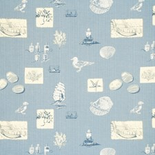 Mid Blue Animal Drapery and Upholstery Fabric by Baker Lifestyle