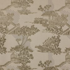 Taupe/Gold Asian Drapery and Upholstery Fabric by Kravet
