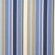Blue Stripes Drapery and Upholstery Fabric by Parkertex