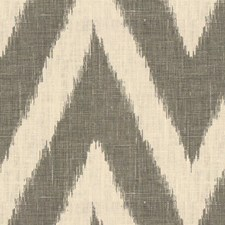 White/Grey Flamestitch Drapery and Upholstery Fabric by Kravet