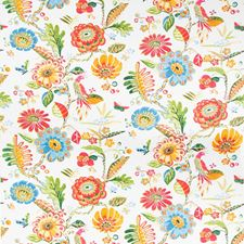 White Botanical Drapery and Upholstery Fabric by Kravet