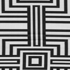 Silver/Black Drapery and Upholstery Fabric by RM Coco