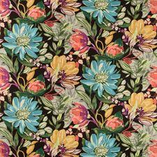 Black/Green/Burgundy Botanical Drapery and Upholstery Fabric by Kravet