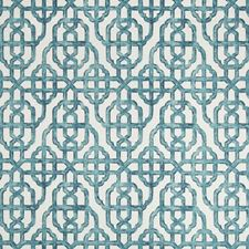 White/Blue Lattice Drapery and Upholstery Fabric by Kravet