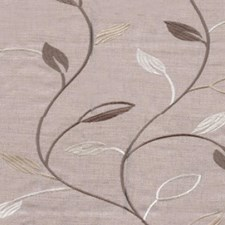 Cream/Brown Drapery and Upholstery Fabric by RM Coco