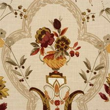 Olive/Gold Botanical Drapery and Upholstery Fabric by G P & J Baker