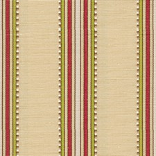 Cream/Fuchsia/Lime Stripes Drapery and Upholstery Fabric by Baker Lifestyle