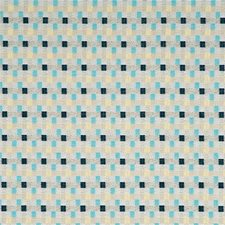 Aqua/Indigo/Linen Drapery and Upholstery Fabric by Baker Lifestyle