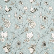 Duck Egg/Taupe Drapery and Upholstery Fabric by Baker Lifestyle