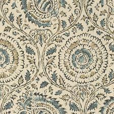 Indigo/Stone Ethnic Drapery and Upholstery Fabric by Baker Lifestyle