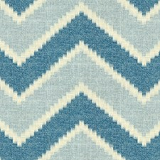 Indigo/Sky Ethnic Drapery and Upholstery Fabric by Baker Lifestyle